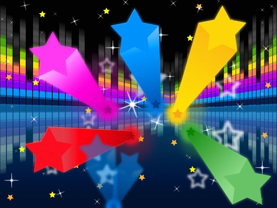 Download Free Stock HD Photo of Stars Soundwaves Background Shows Colorful And Music  Online