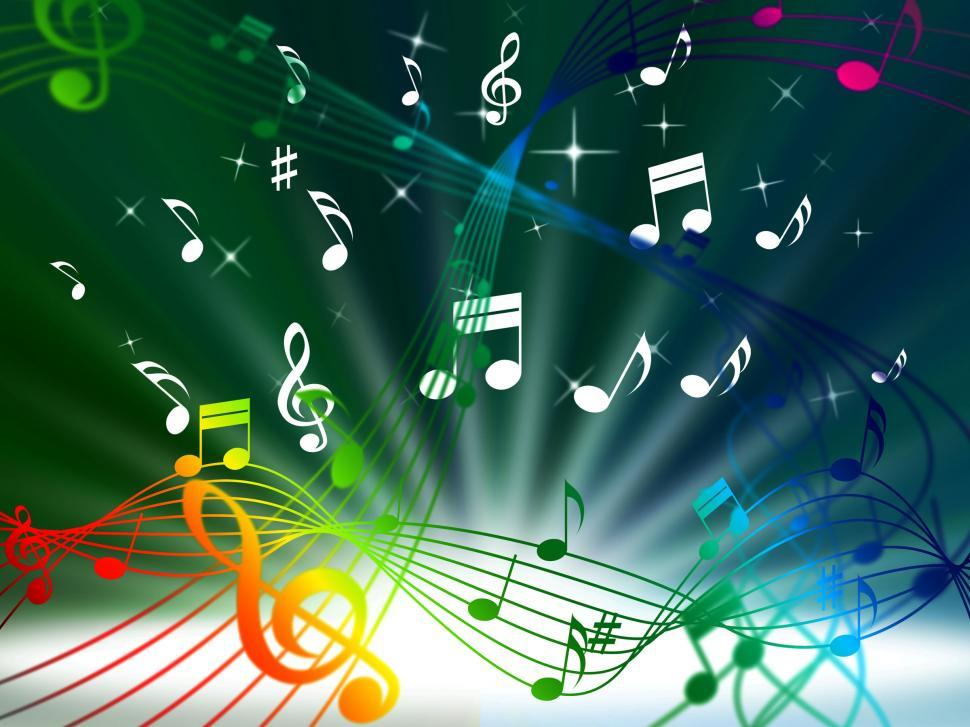 Download Free Stock HD Photo of Green Music Background Means Tune Sounds And Piece  Online