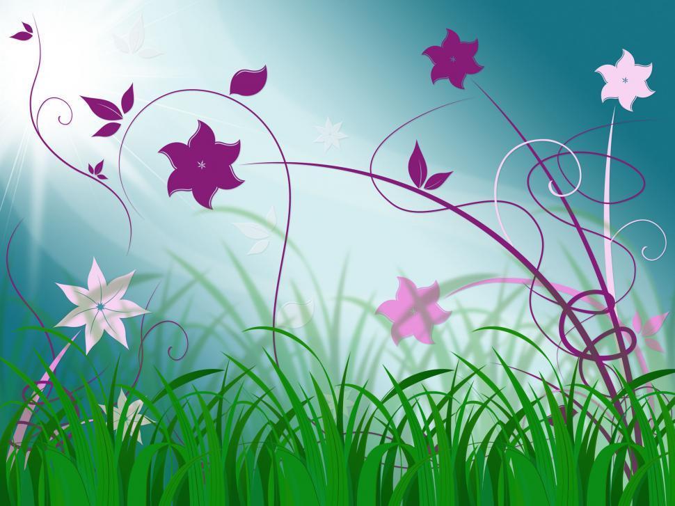 Download Free Stock HD Photo of Elegant Floral Background Means Spring Season Or Botanical Decor Online
