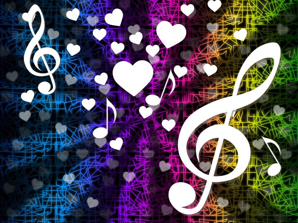 Download Free Stock HD Photo of Music Background Means Tune Melody And Harmony  Online