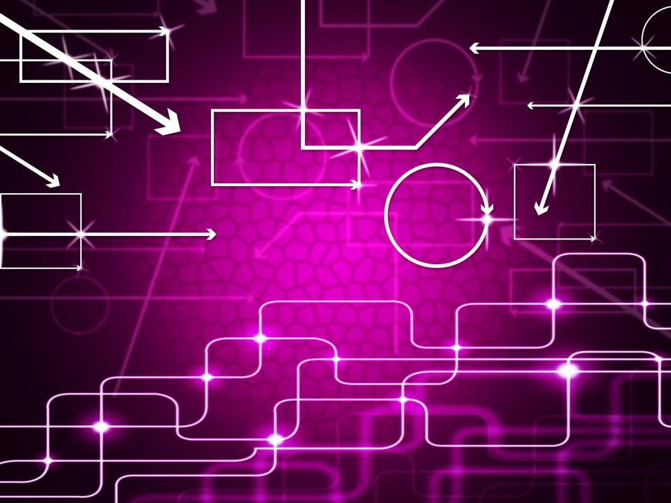 Download Free Stock Photo of Pink Shapes Background Shows Geometry And Curvy Rectangles