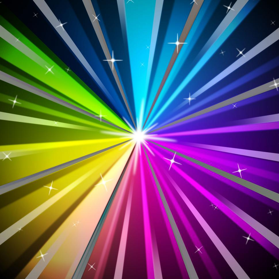 Download Free Stock Photo of Colorful Rays Background Means Shining Colors And Sparkles