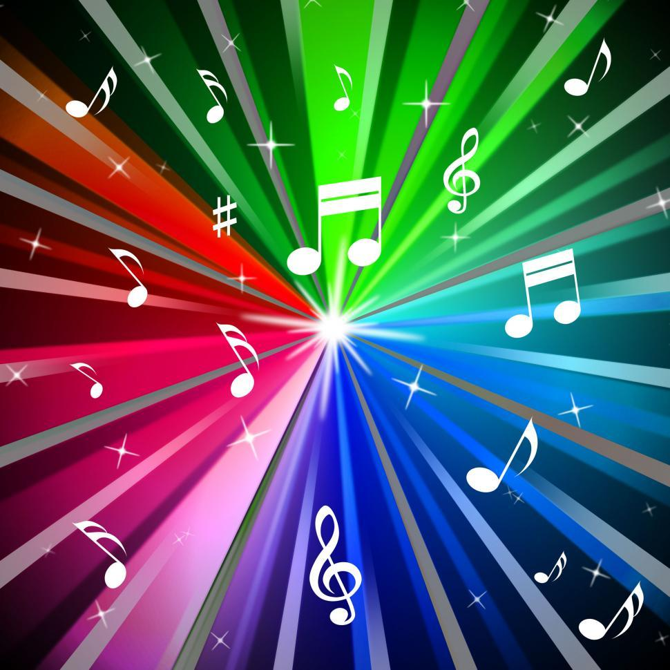 Download Free Stock HD Photo of Colorful Music Background Means Beams Light And Songs  Online