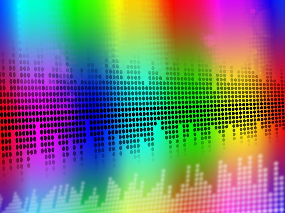 Download Free Stock HD Photo of Sound Equalizer Background Means Music Vibrations Or Audio Meter Online