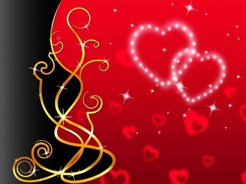 Download Free Stock Photo of Red Hearts Background Means Love Dear And Floral