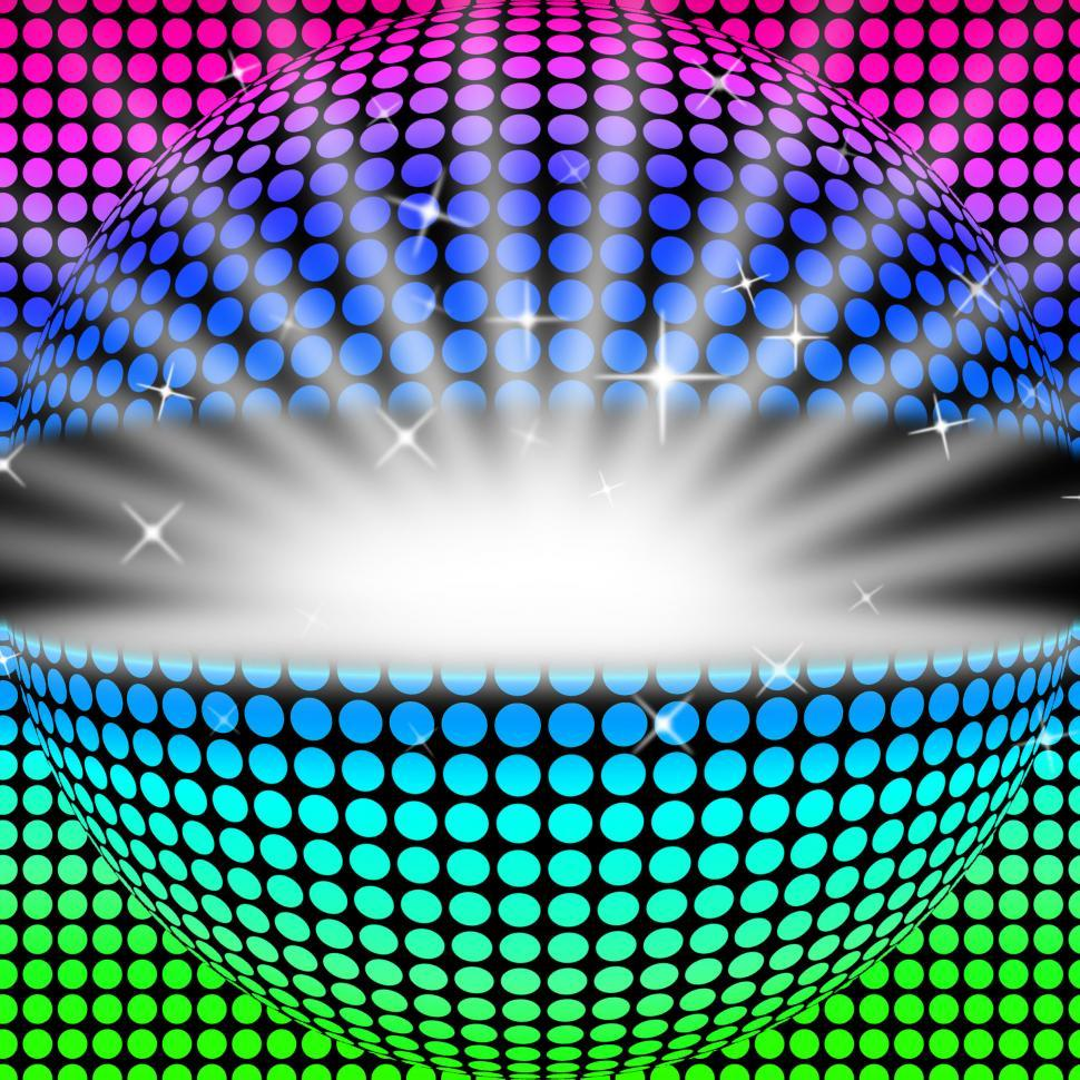 Download Free Stock HD Photo of Disco Ball Background Shows Glowing Colorful And Clubbing  Online