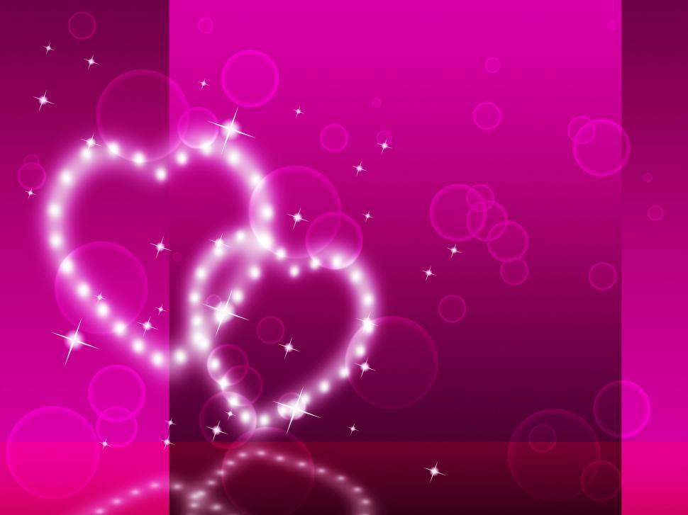 Download Free Stock HD Photo of Pink Hearts Background Means Affection Desire And Glittering  Online