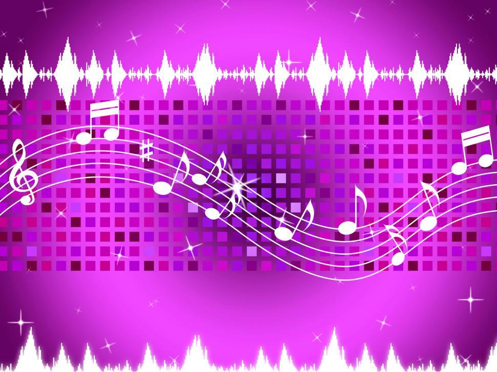 Download Free Stock HD Photo of Purple Music Background Means Sparkling Sqaures And Party  Online