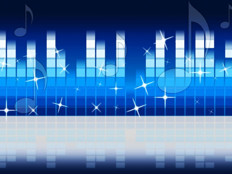 Download Free Stock HD Photo of Blue Music Background Shows Melody Rock Or Tune  Online