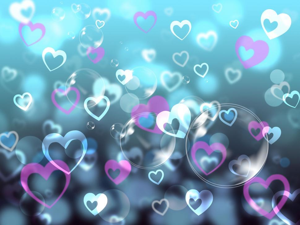 Download Free Stock Photo of Hearts Background Means Loving Partner Family Or Friends