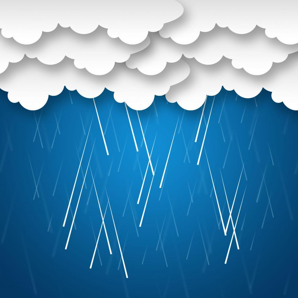 Download Free Stock Photo of Raining Sky Background Means Rainy Weather Or Storms