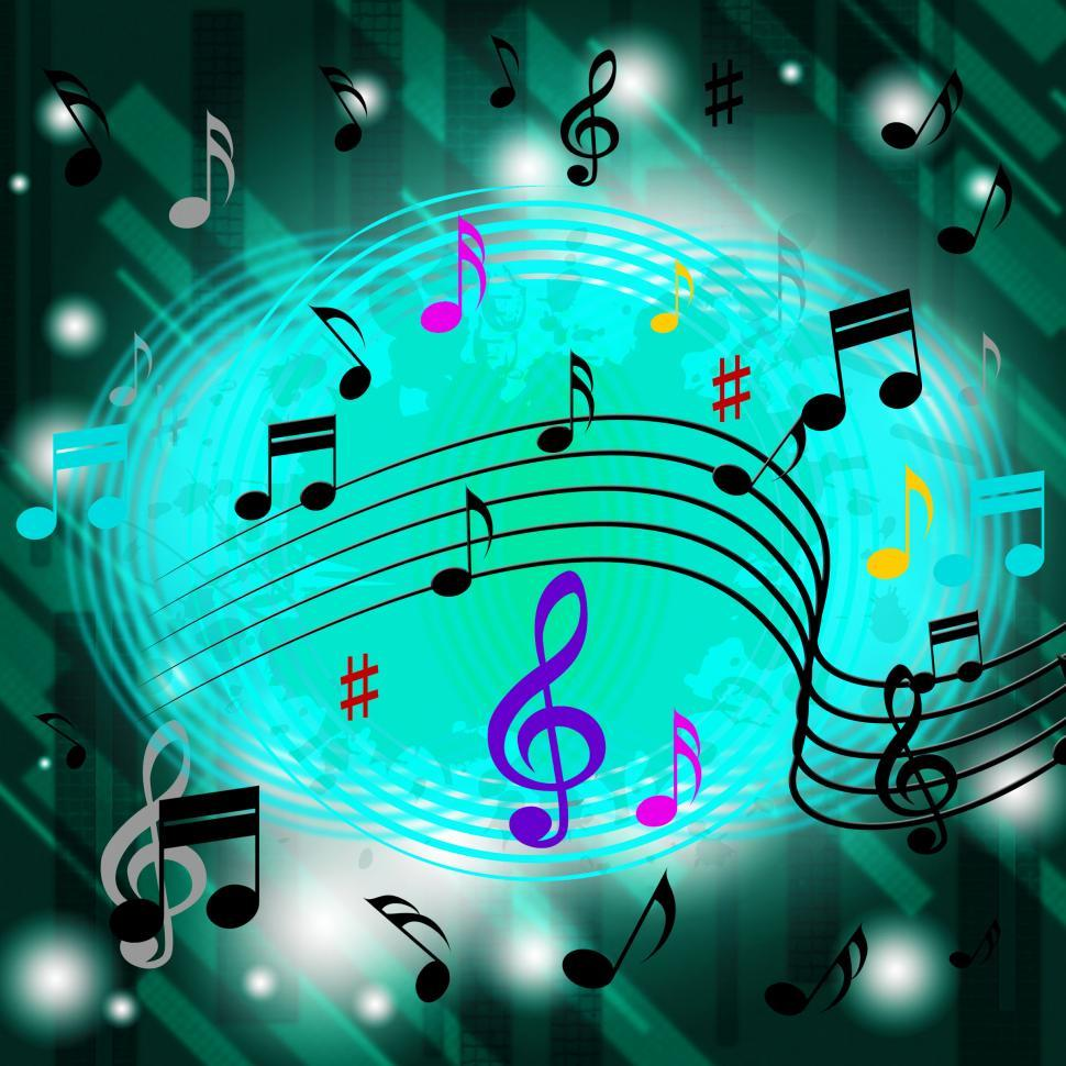 Download Free Stock HD Photo of Green Music Background Means Jazz Soul Or CDs  Online