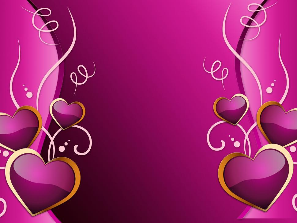 Download Free Stock Photo of Hearts Background Means Romance  Attraction And Wedding