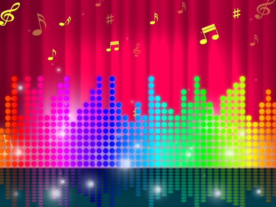 Download Free Stock Photo of Sounds Waves Background Shows Make Music Or Sing