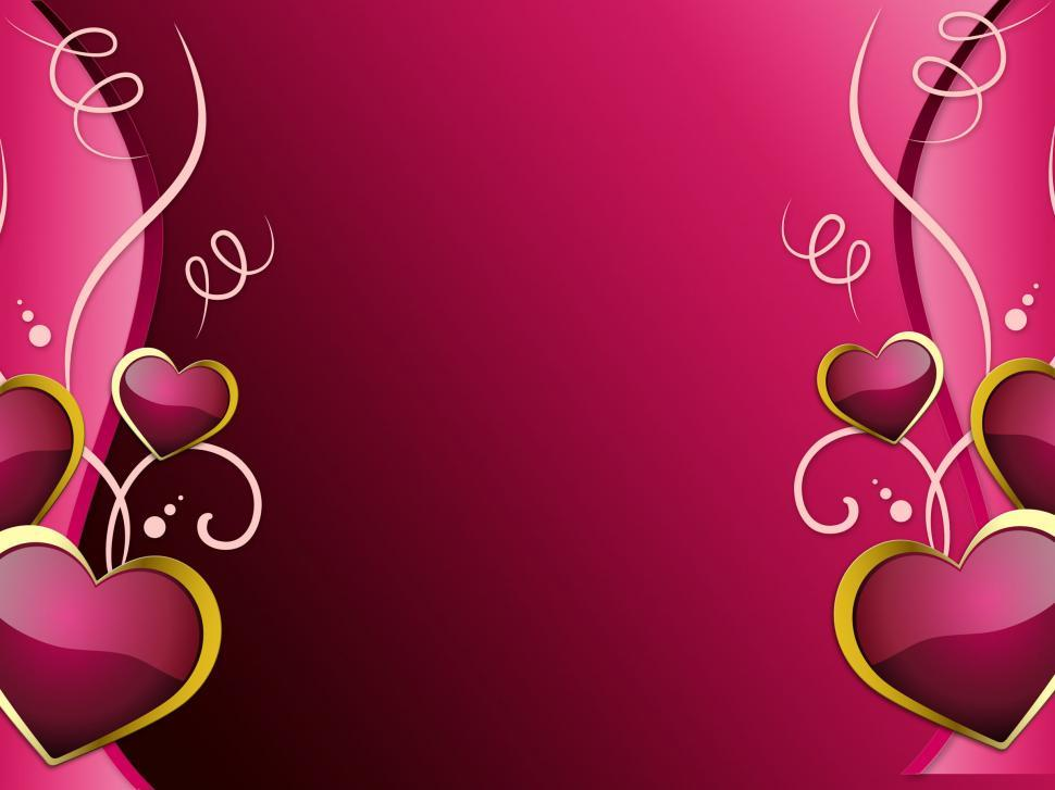 Download Free Stock HD Photo of Hearts Background Shows Romantic Wallpaper Or Passionate Love  Online