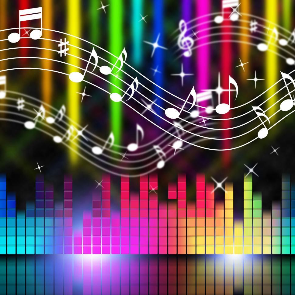 Download Free Stock Photo of Music Background Means Playing Singing And Musical