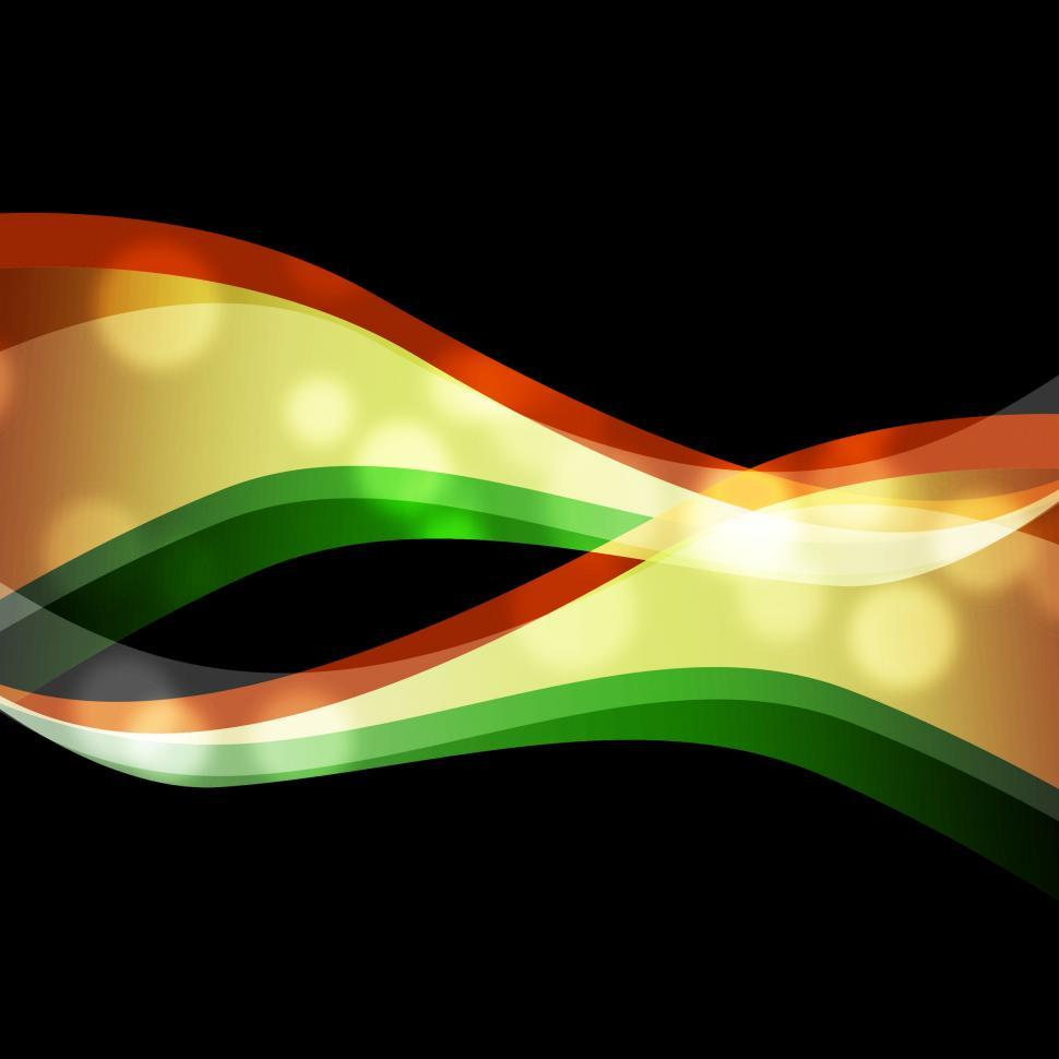 Download Free Stock HD Photo of Orange Green Swirls Background Means Wavy Shapes  Online