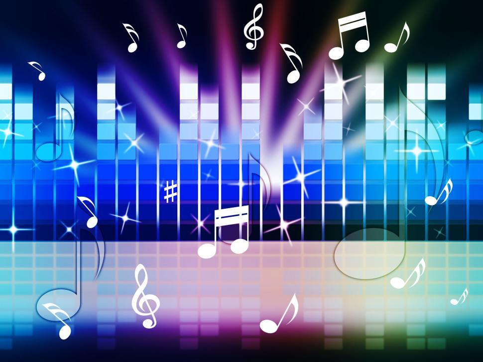 Download Free Stock HD Photo of Multicolored Music Background Shows Playing Tune Or Metal  Online