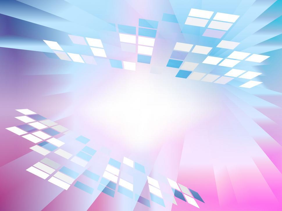 Download Free Stock Photo of Square Grids Background Shows Simple Digital Art
