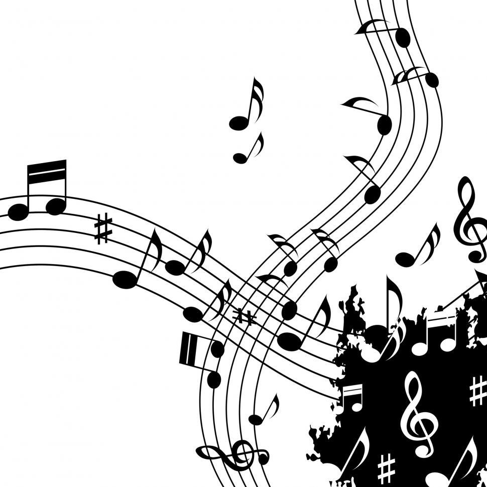 Download Free Stock HD Photo of White Music Background Shows Classical Jazz And Tune  Online
