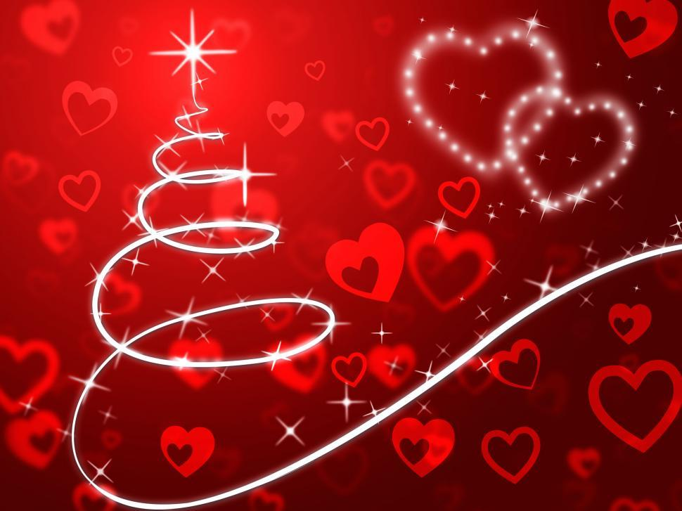 Download Free Stock HD Photo of Red Christmas Tree Background Shows Holidays And Love  Online