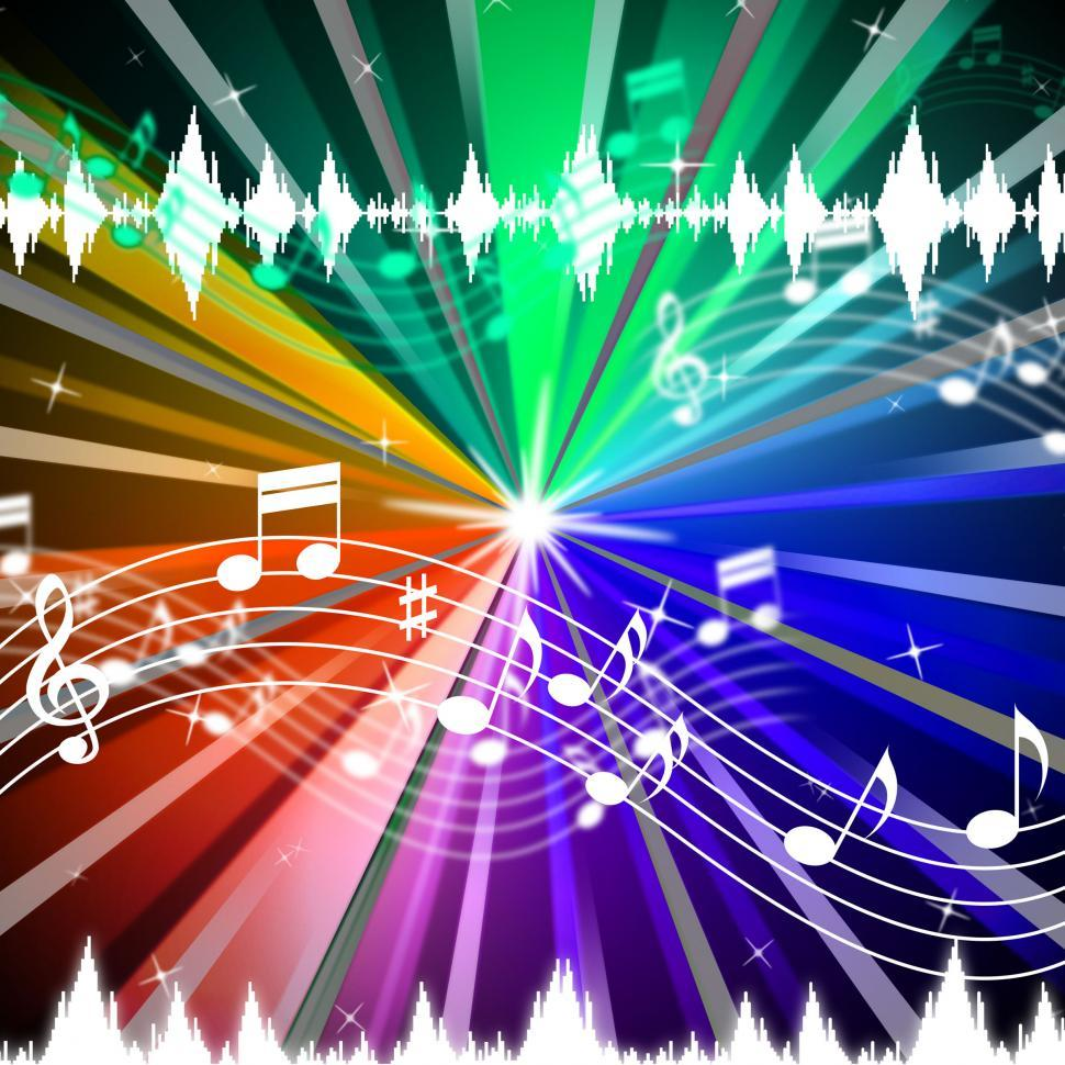 Download Free Stock HD Photo of Colorful Music Background Means Brightness Beams And Singing  Online