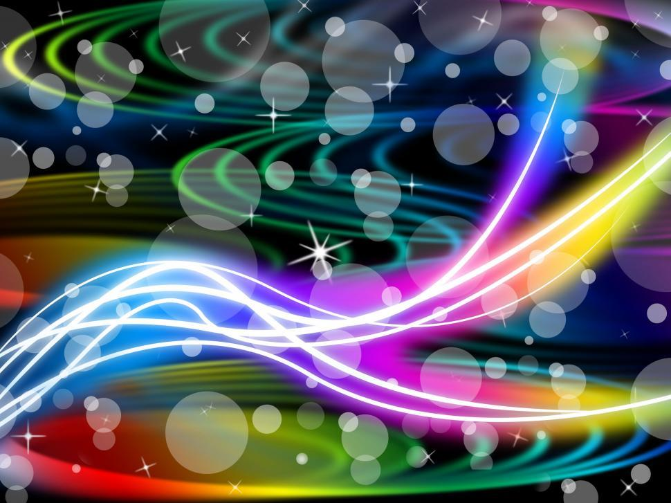 Download Free Stock HD Photo of Flourescent Swirls Background Means Colorful Space And Bubbles  Online