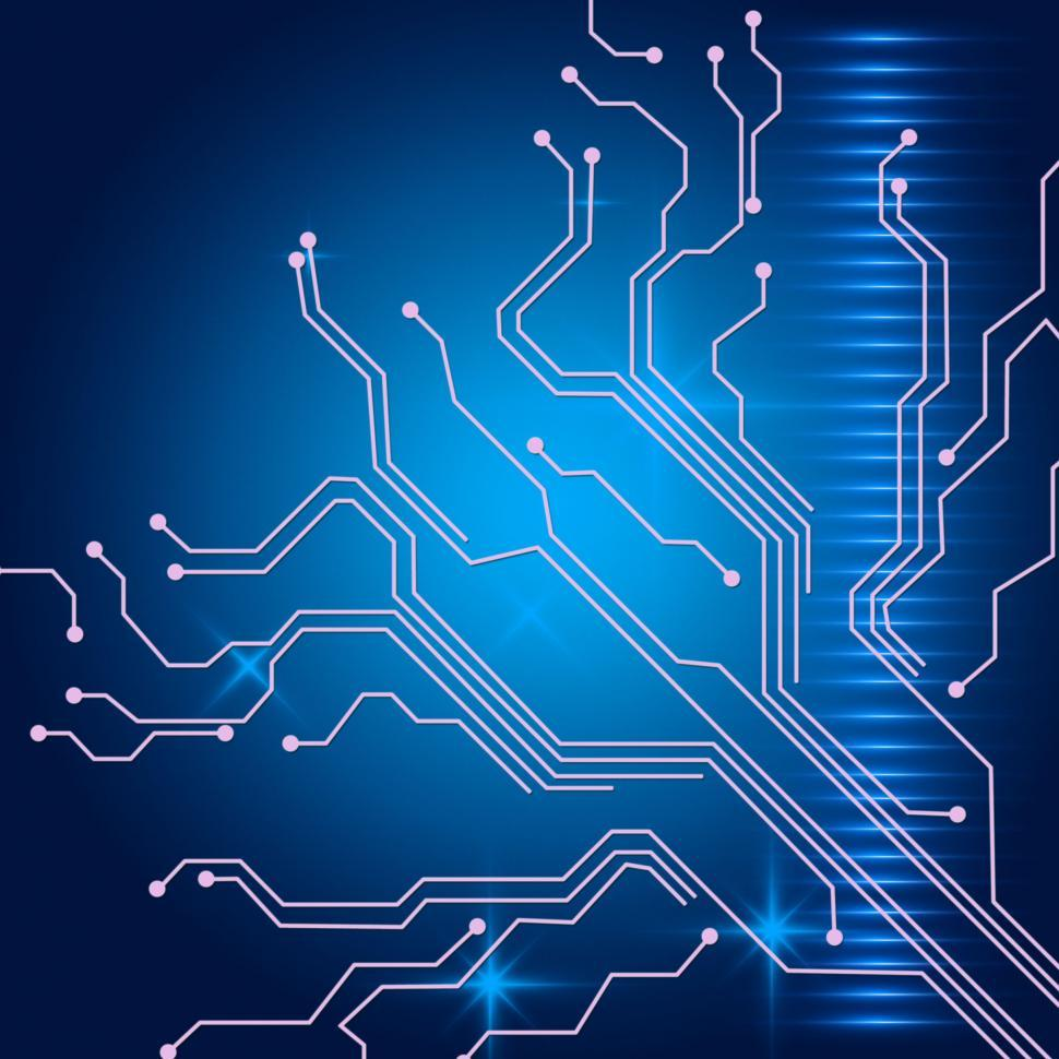 Download Free Stock HD Photo of Contact Links Background Shows Electric Circuit Or Interface Wir Online