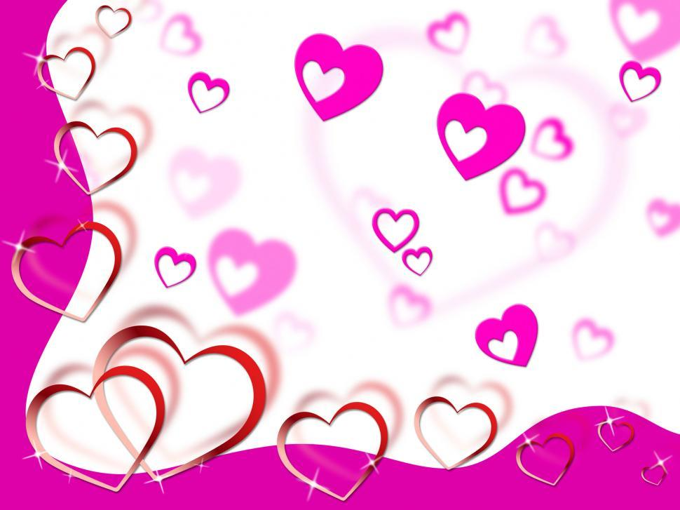 Download Free Stock HD Photo of Hearts Background Shows Tenderness Affection And Dear  Online