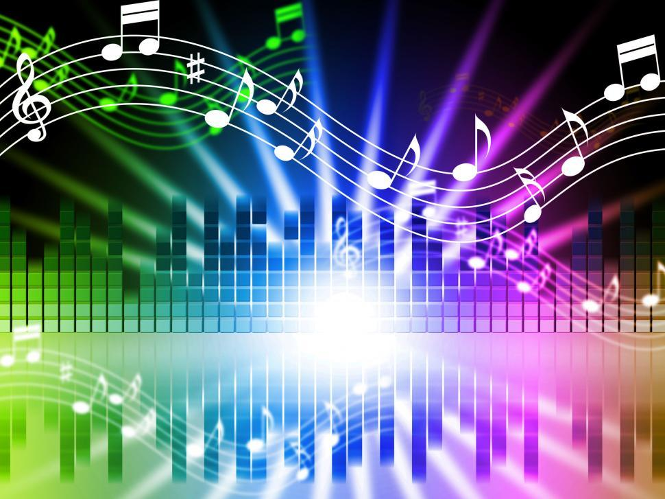 Download Free Stock HD Photo of Music Colors Background Means Songs Singing And Musical  Online