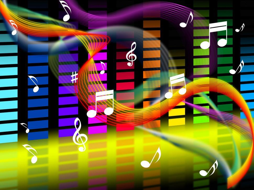 Download Free Stock Photo of Music Background Shows Tune Jazz Or Classical