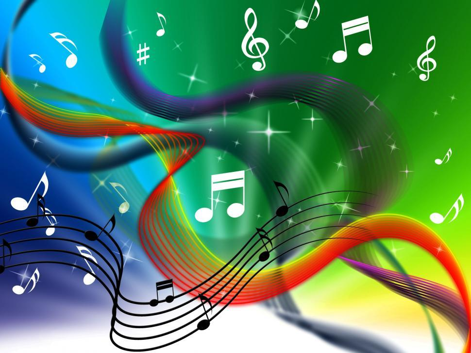 Download Free Stock HD Photo of Waves Music Background Means Colorful Singing And DJ  Online