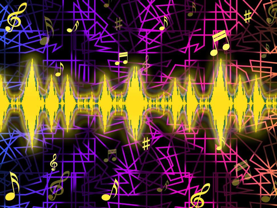 Download Free Stock Photo of Soundwaves Background Means Djing Or Mixing Music