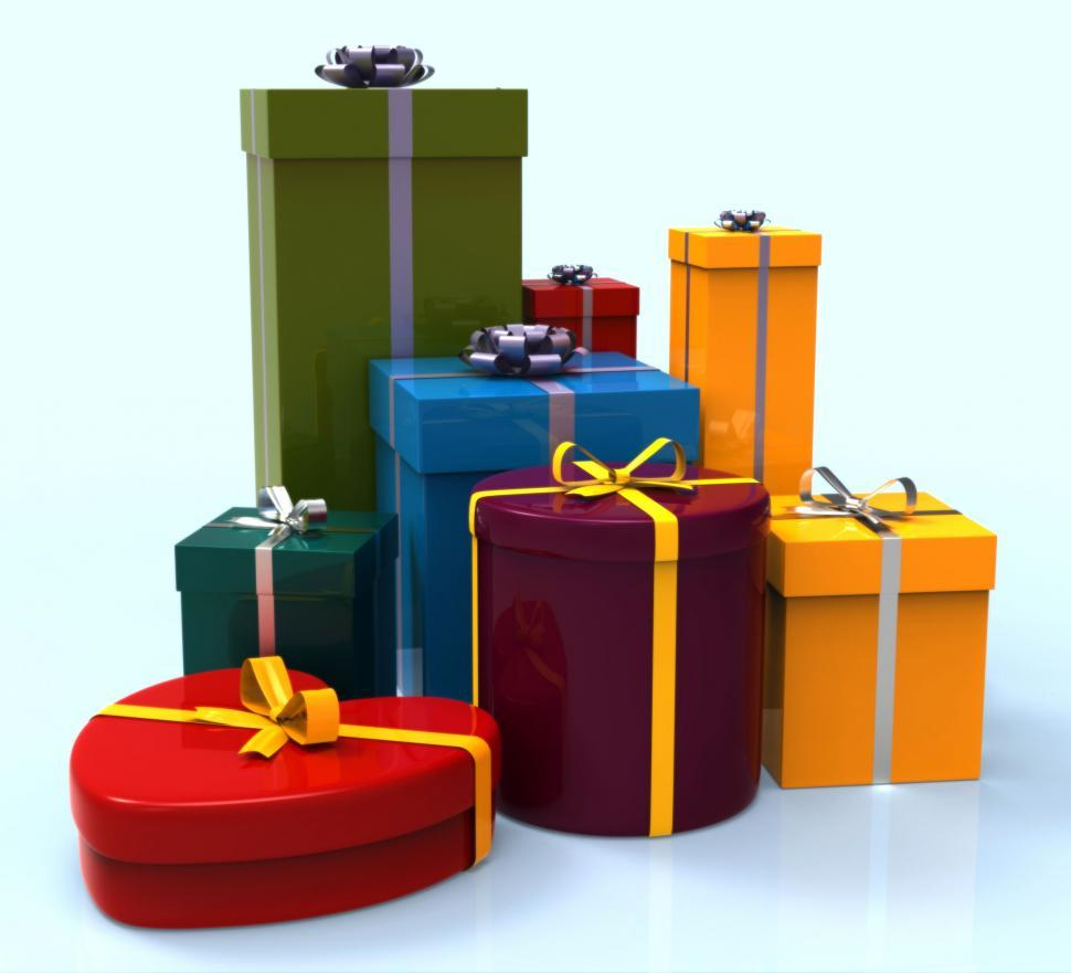 Download Free Stock HD Photo of Celebration Giftboxes Indicates Cheerful Greeting And Package Online