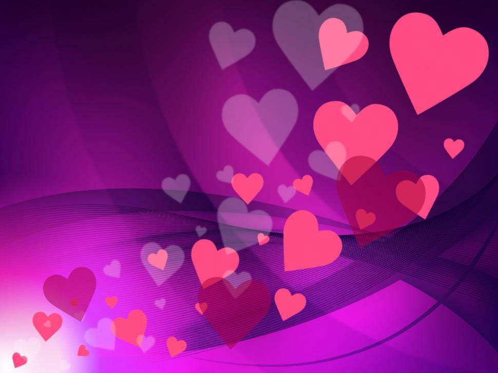 Download Free Stock HD Photo of Hearts Background Means Valentine Day And Affection Online