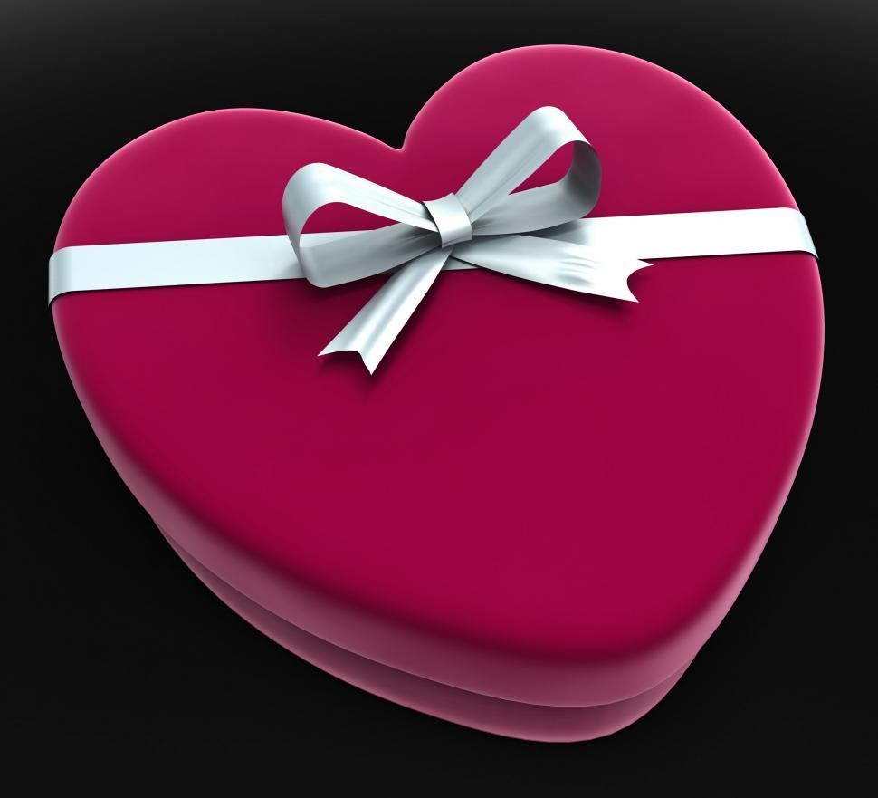 Download Free Stock HD Photo of Gift Heart Means Valentine Day And Gift-Box Online