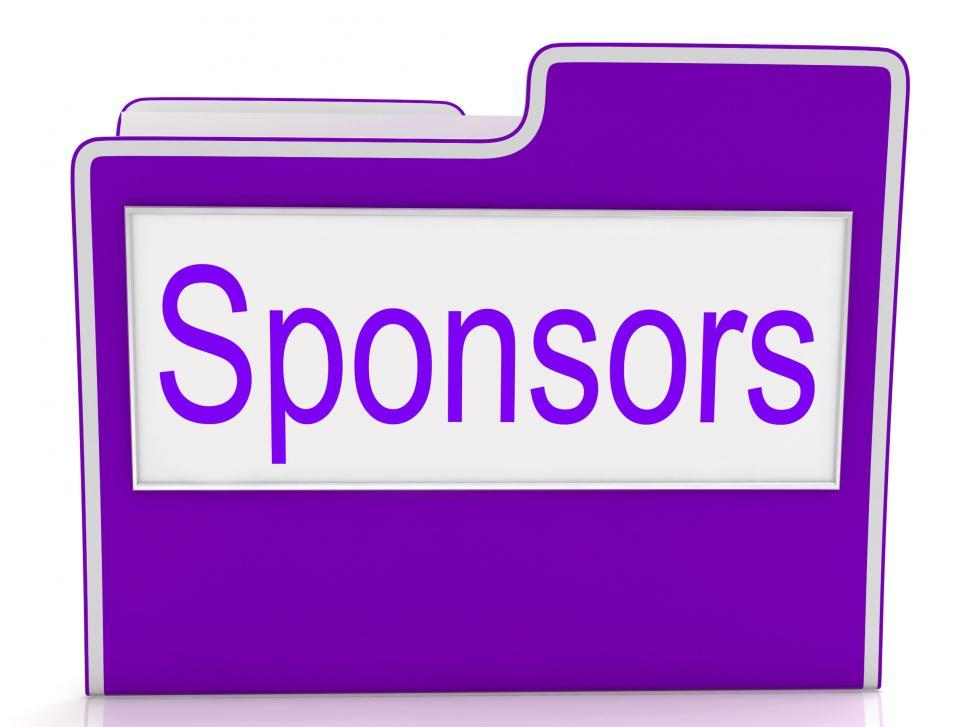 Download Free Stock Photo of File Sponsors Represents Paperwork Promoter And Patrons