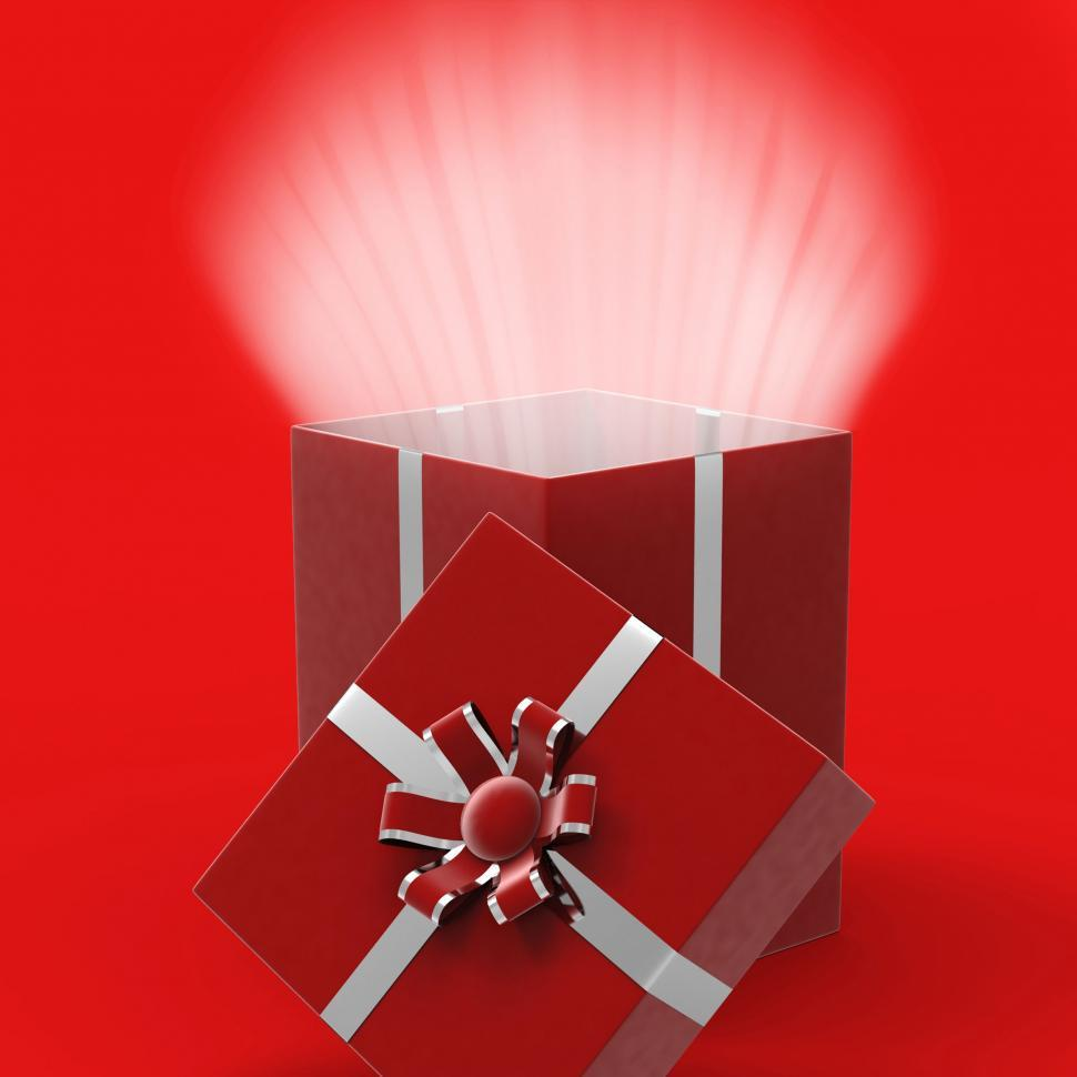 Download Free Stock Photo of Celebrate Surprised Indicates Gift Box And Parties