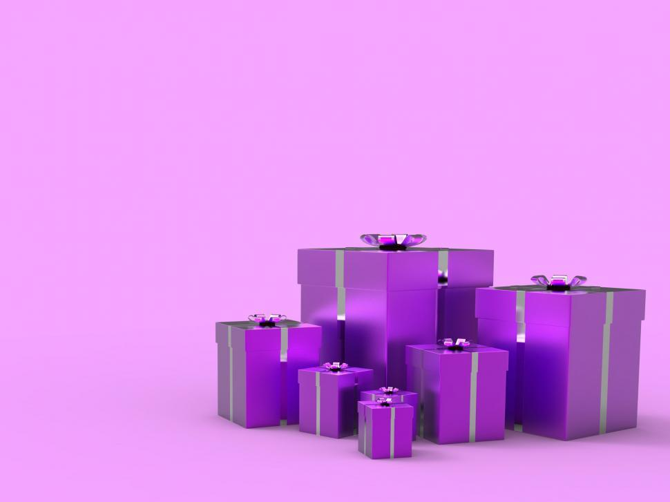 Download Free Stock Photo of Copyspace Birthday Indicates Gift Box And Blank