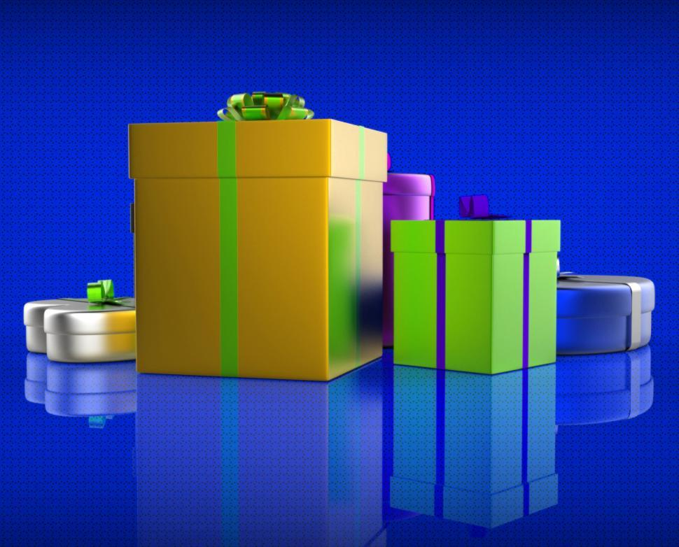 Download Free Stock Photo of Giftbox Giftboxes Represents Celebrations Celebrate And Party