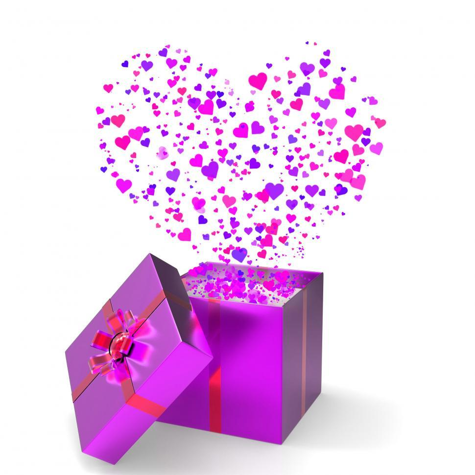 Download Free Stock HD Photo of Heart Gift Indicates Valentines Day And Gift-Box Online