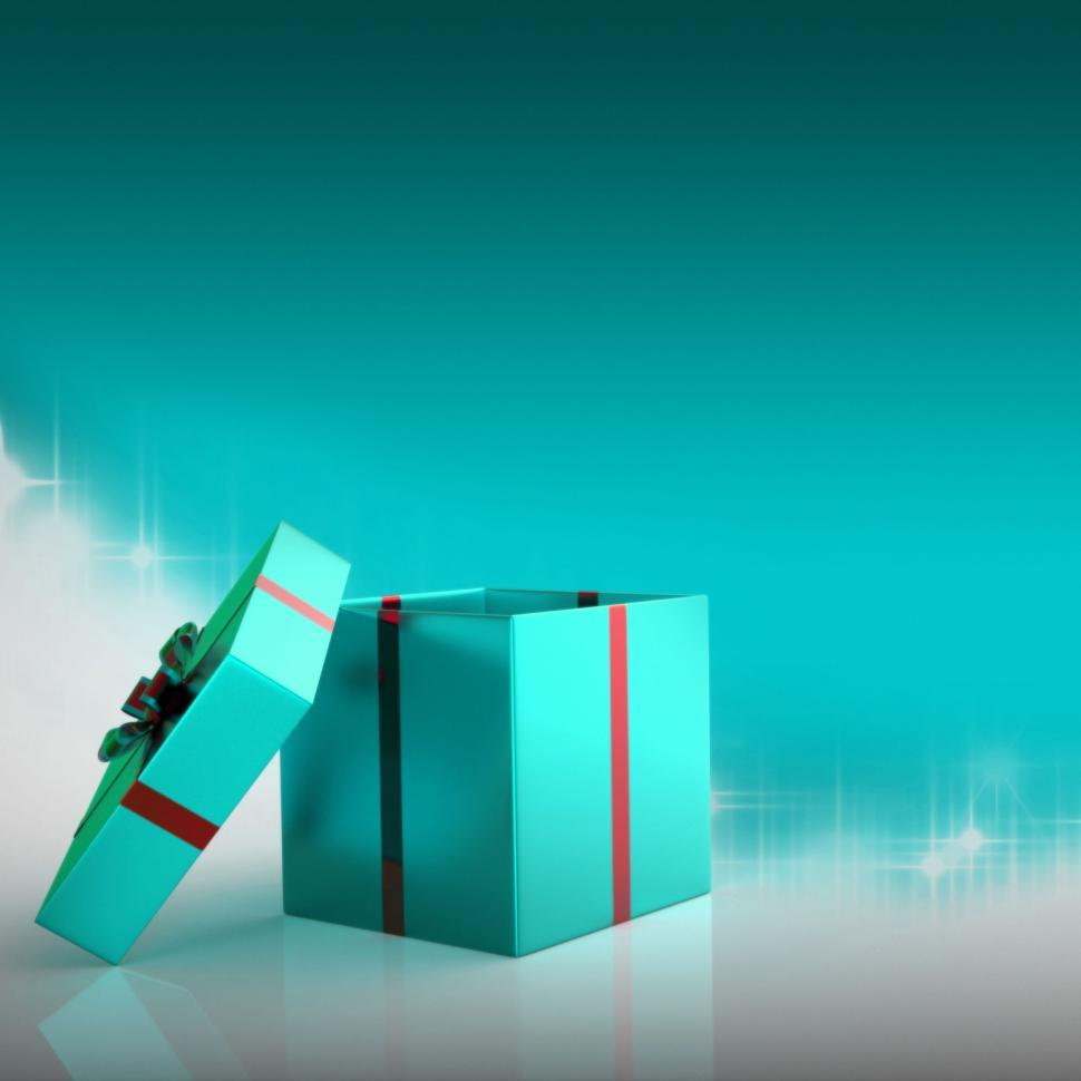 Download Free Stock Photo of Celebrate Copyspace Means Gift Box And Blank