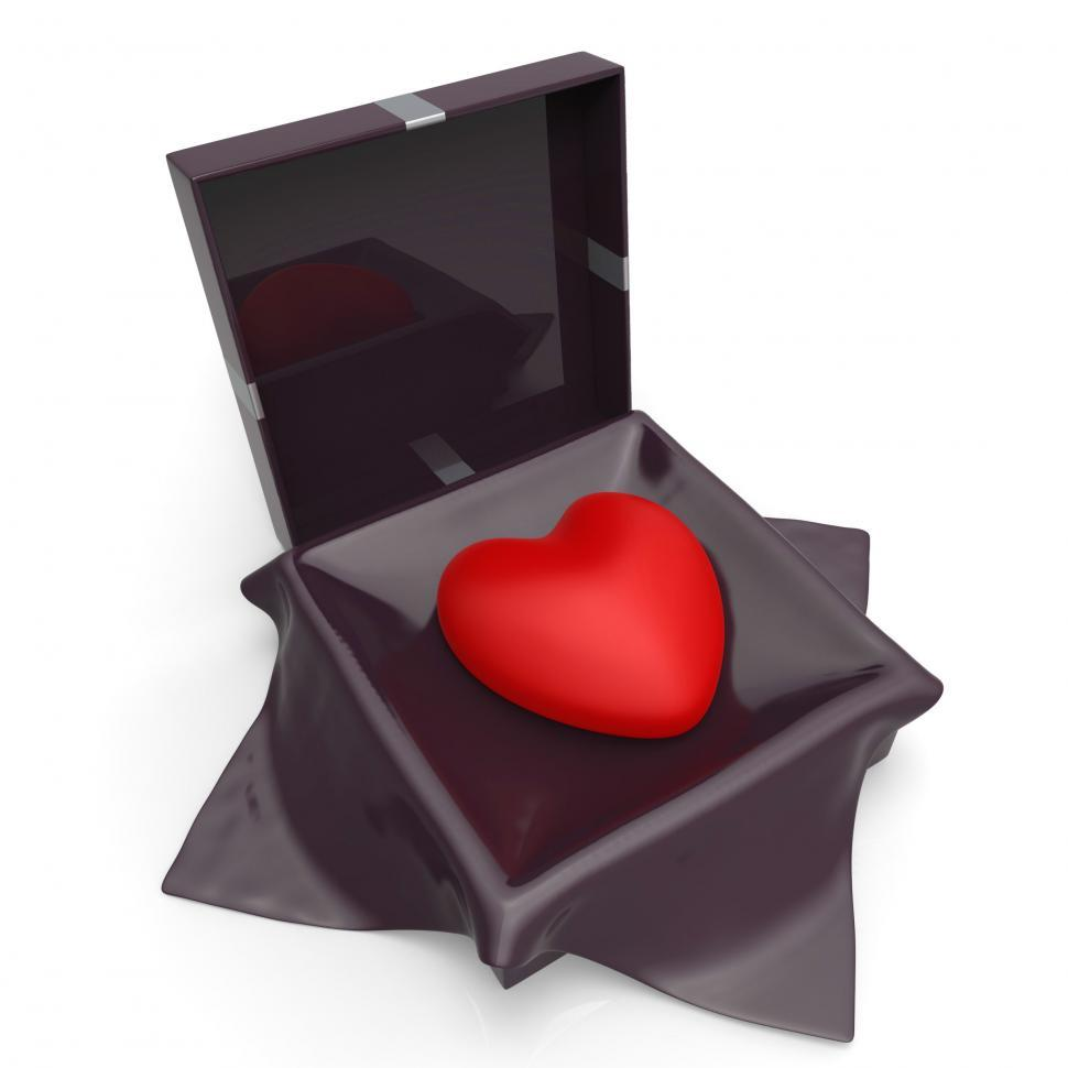 Download Free Stock Photo of Heart Gift Indicates Valentine Day And Affection