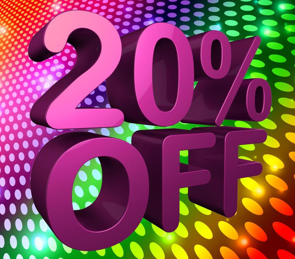Download Free Stock Photo of Twenty Percent Off Represents Promo Sale And Clearance