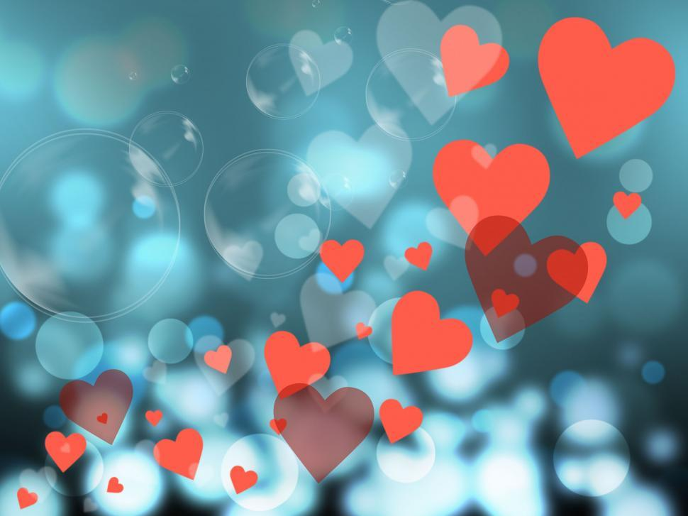 Download Free Stock HD Photo of Hearts Background Represents Valentines Day And Backdrop Online