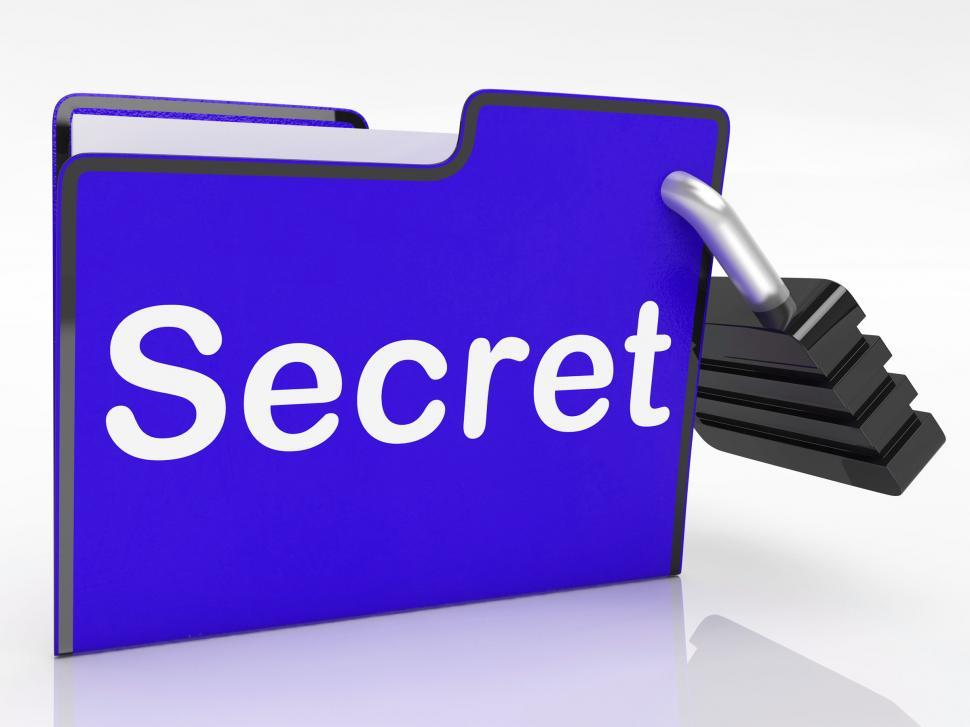 Download Free Stock HD Photo of File Secret Shows Encryption Correspondence And Unauthorized Online