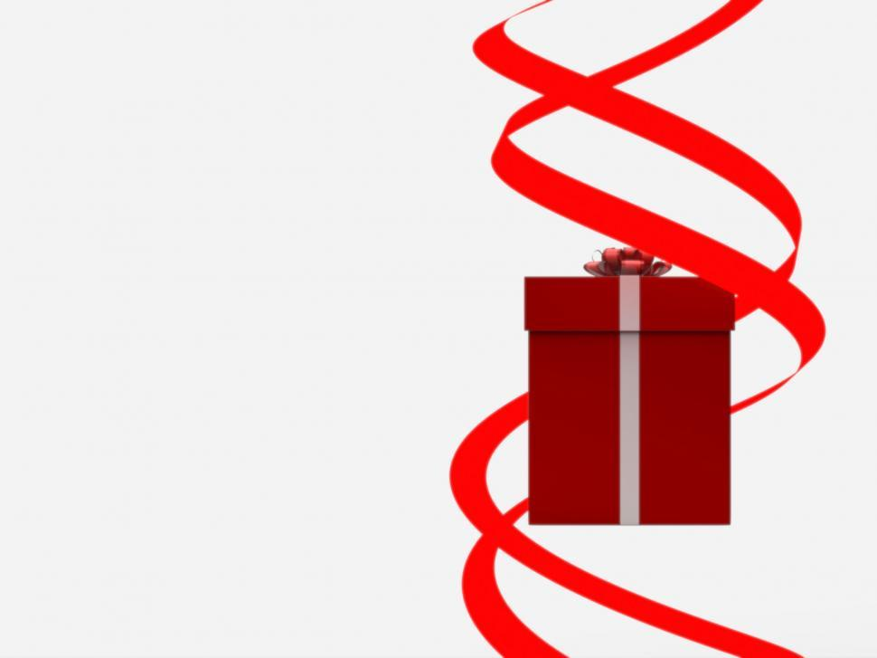 Download Free Stock Photo of Giftbox Copyspace Shows Giving Greeting And Package