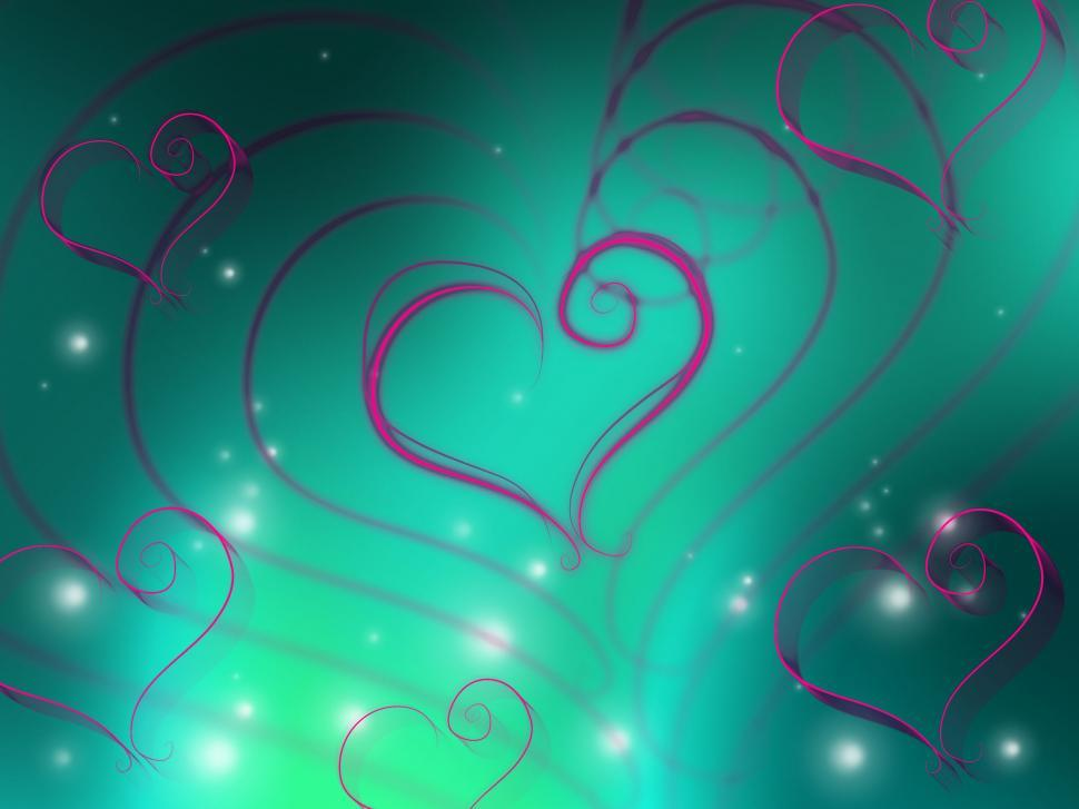 Download Free Stock HD Photo of Background Glow Means Heart Shapes And Affection Online