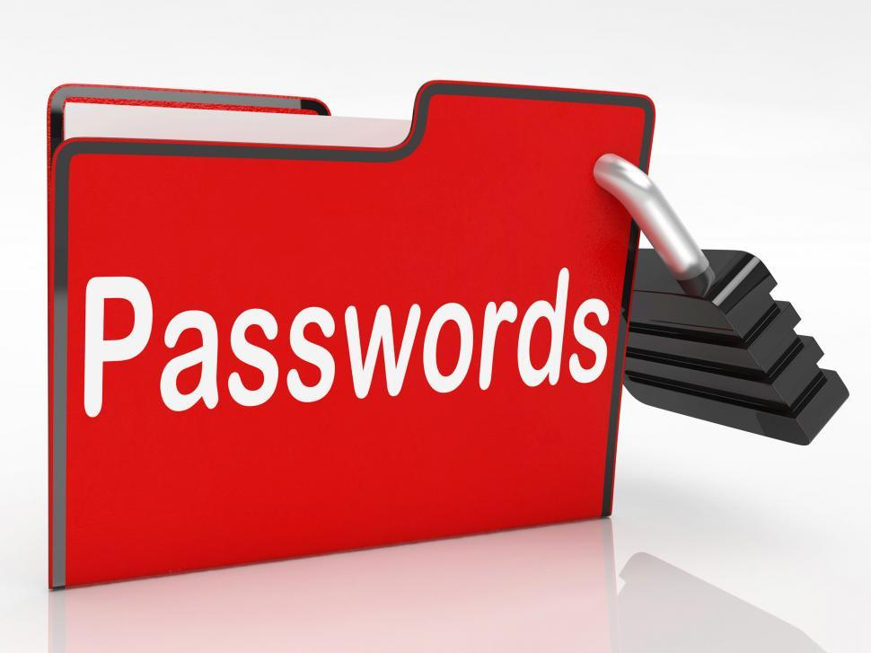 Download Free Stock Photo of File Passwords Means Log Ins And Access