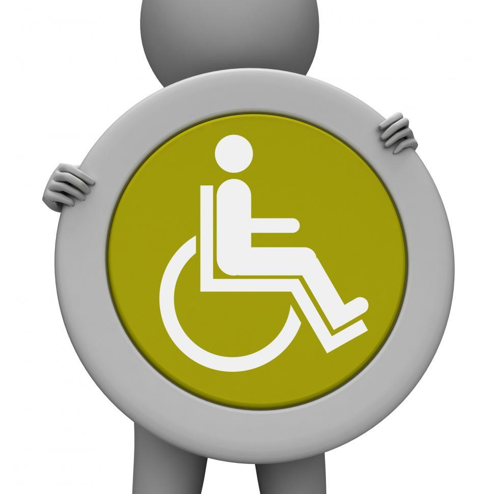 Download Free Stock HD Photo of Sign Wheelchair Means Hospital Handicap And Advertisement Online